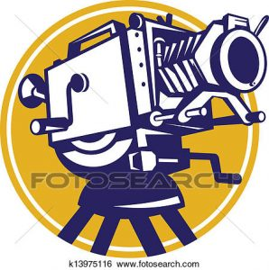 298x300 Film Camera Clipart Clip Art Of Vintage Movie Film Camera Retro