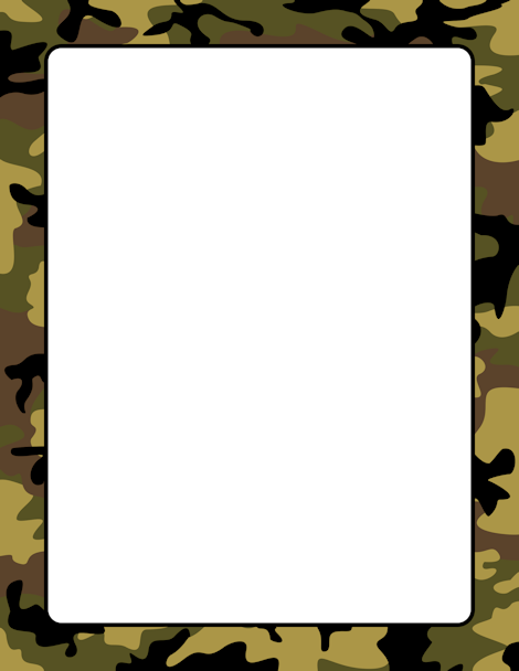 470x608 Camouflage Page Border. Free Downloads
