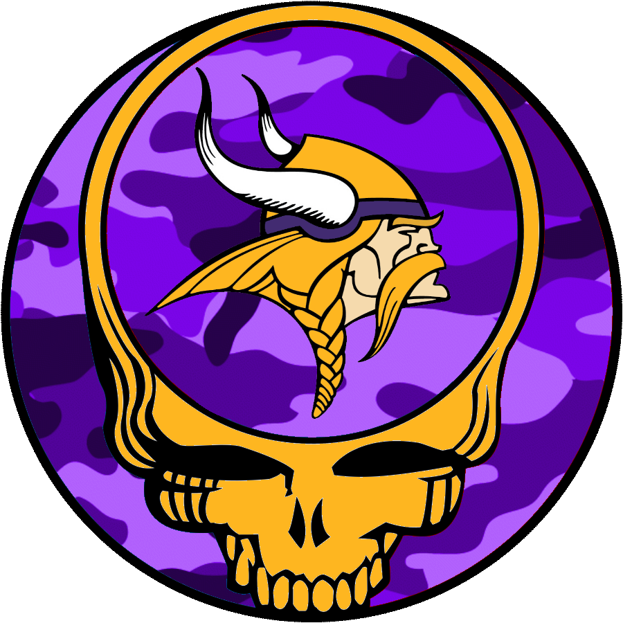 900x900 Grateful Dead Logo Purple Camo Yellow Skull Free Images