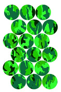 236x353 Fun Camouflage Pattern (Green) Bottle Cap Image Packmatted