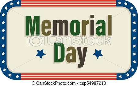 450x281 Memorial Day Icon. Memorial Day Sign With Camouflage Colored
