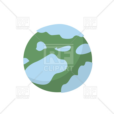 400x400 Planet Earth Royalty Free Vector Clip Art Image