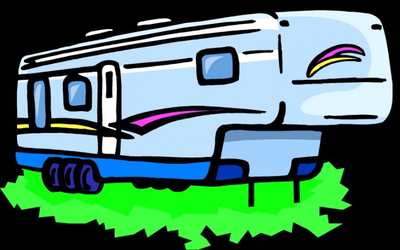 820x513 Clip Art Blue Camper Cliparts