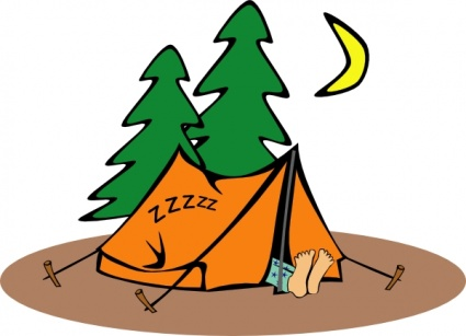 425x307 Free Download Of Camper Sleeping Clip Art Vector Graphic