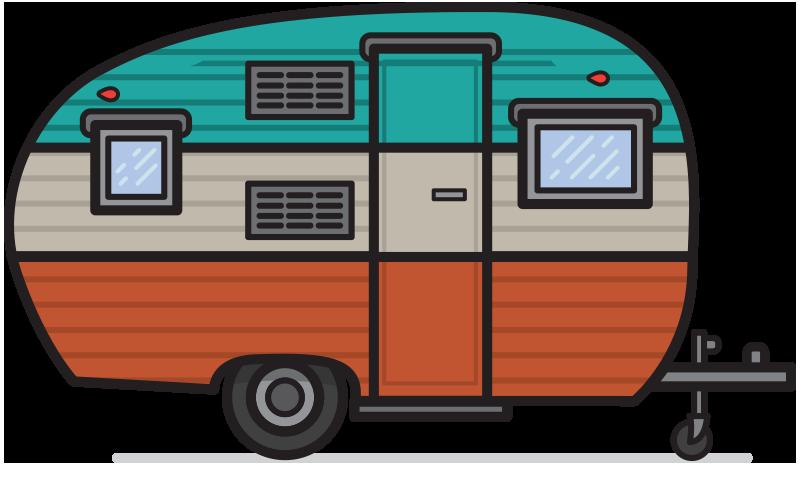 800x502 Retro Camper Clipart