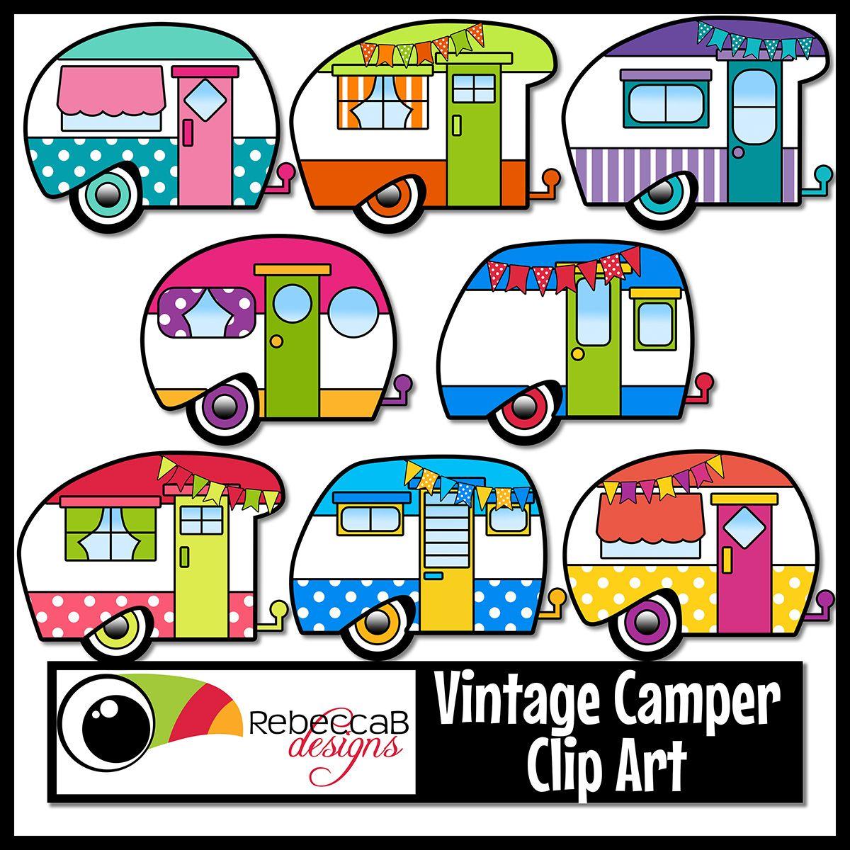 1200x1200 Vintage Retro Camper Clip Art Rock Painting Retro