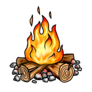 352x352 Campfire Clipart Clear Background Pencil And In Color Campfire