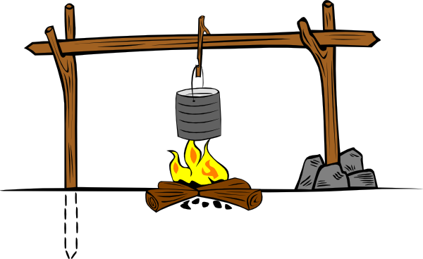 600x368 Image Of Campfire Clip Art