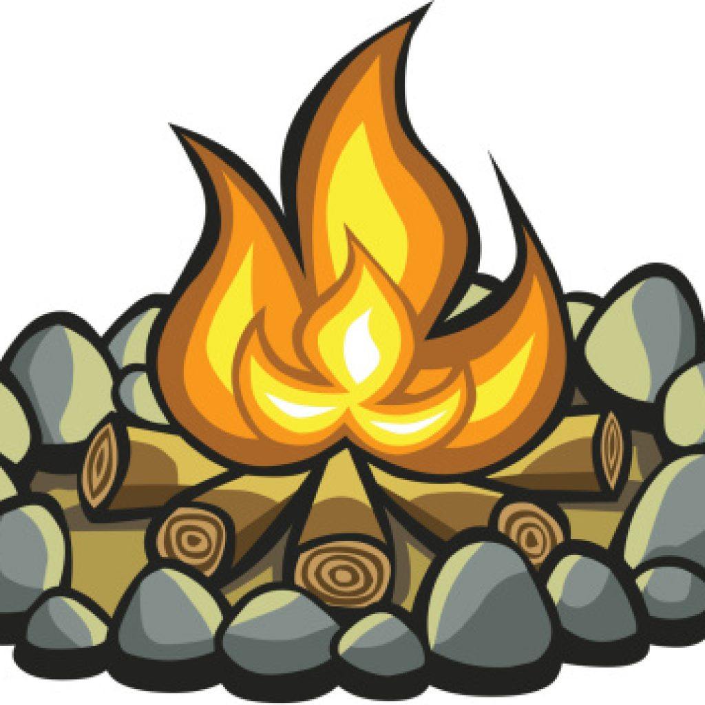 1024x1024 Camp Fire Clip Art Tree Clipart