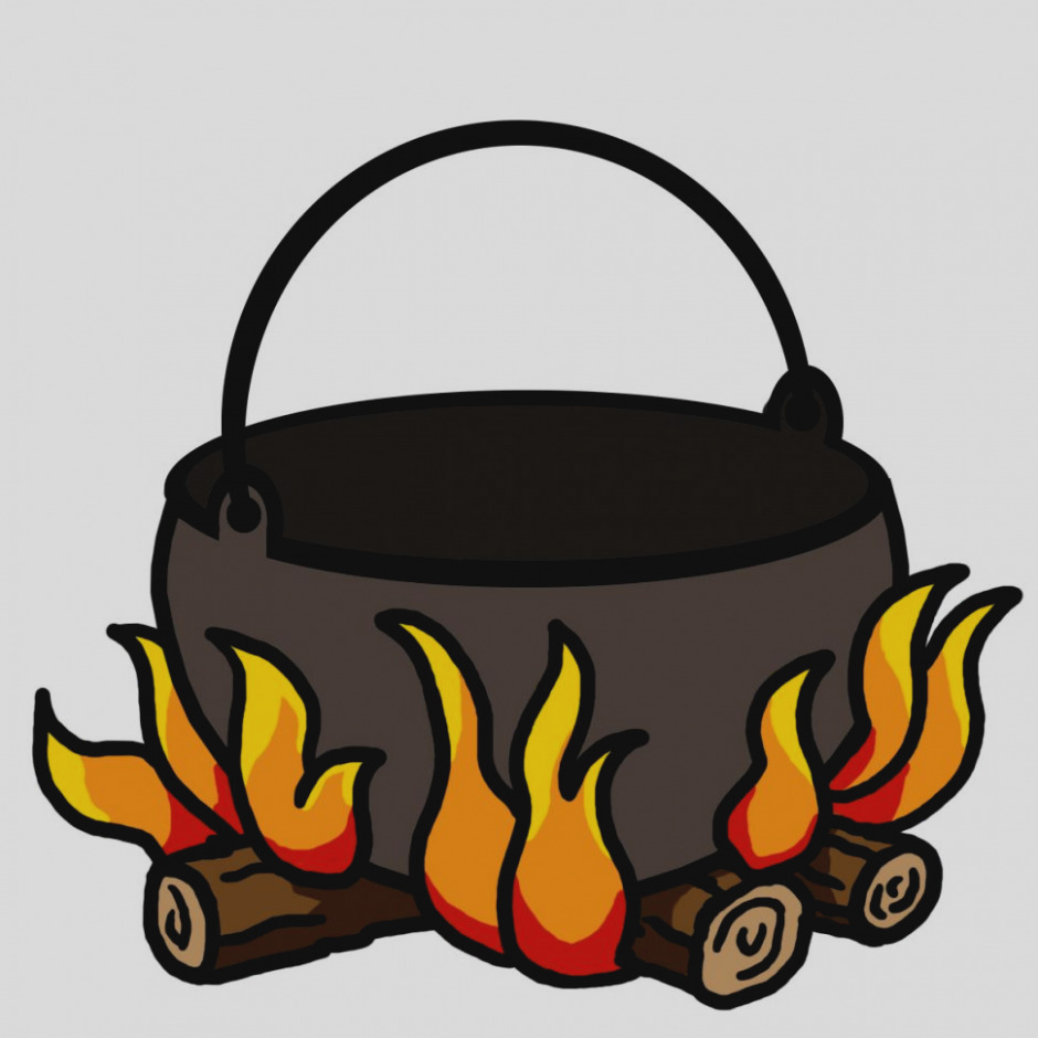 940x940 Elegant Of Campfire Clip Art Isolated On White Clipart Panda Free