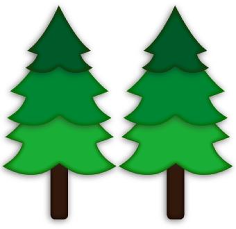 340x330 Pine Trees Clip Art