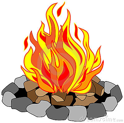 400x397 Cartoon Campfire Clipart