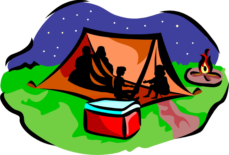 1500x1017 Family Camping Clip Art