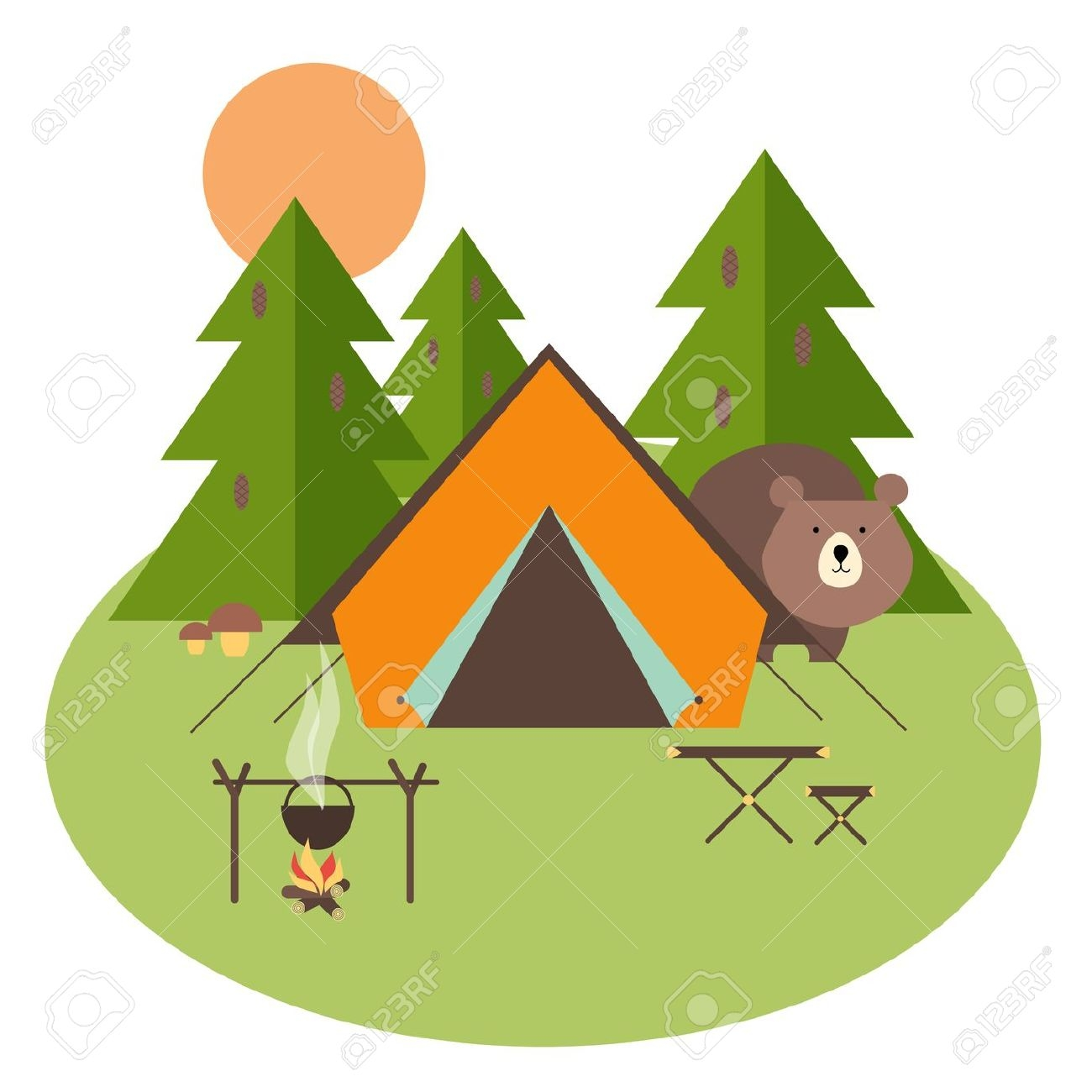 1300x1300 New Camping Clipart Collection