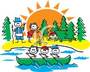 300x240 Clip Art Summer Camp A Cartoon Several Kids