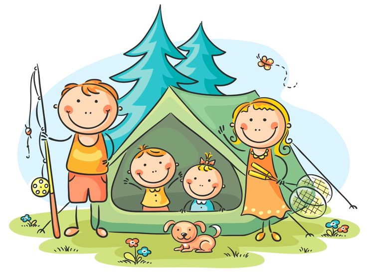 736x549 Camper Clipart Kid Cooperation