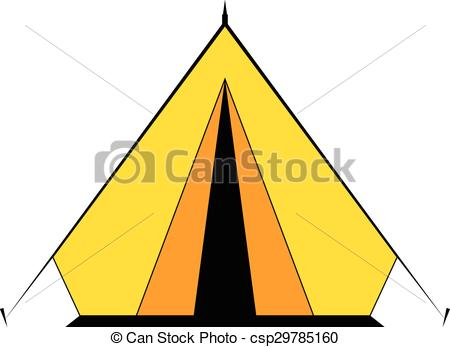 450x347 Camping Tent. Camping Tent For Travel On White. Vector Clip Art