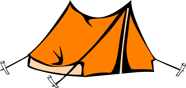600x284 Camping Tent Clipart Black And White Orange Tent Hi K106