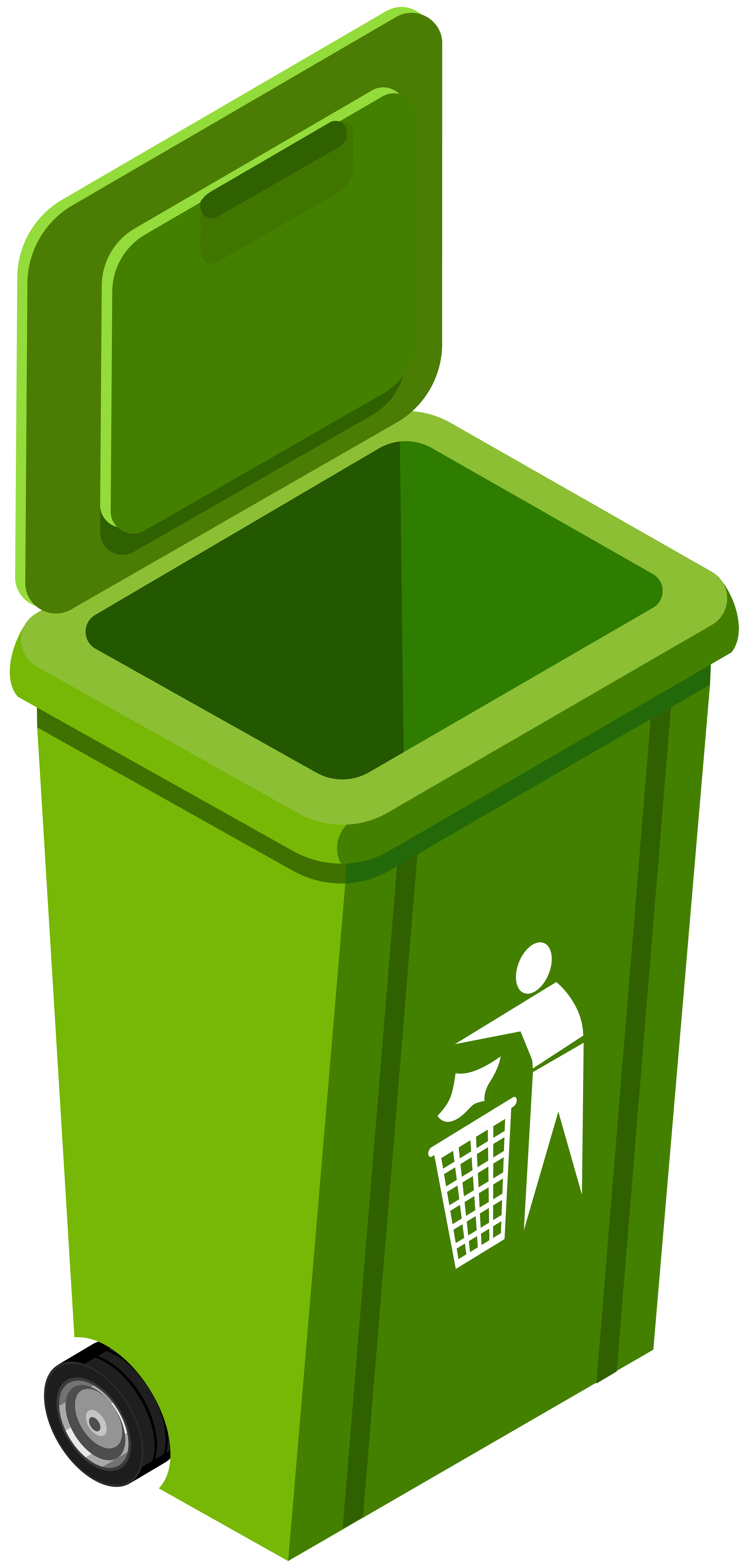 3810x8000 Green Trash Can Png Clip Art Image