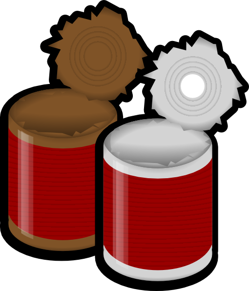 510x596 Two Open Cans Clip Art