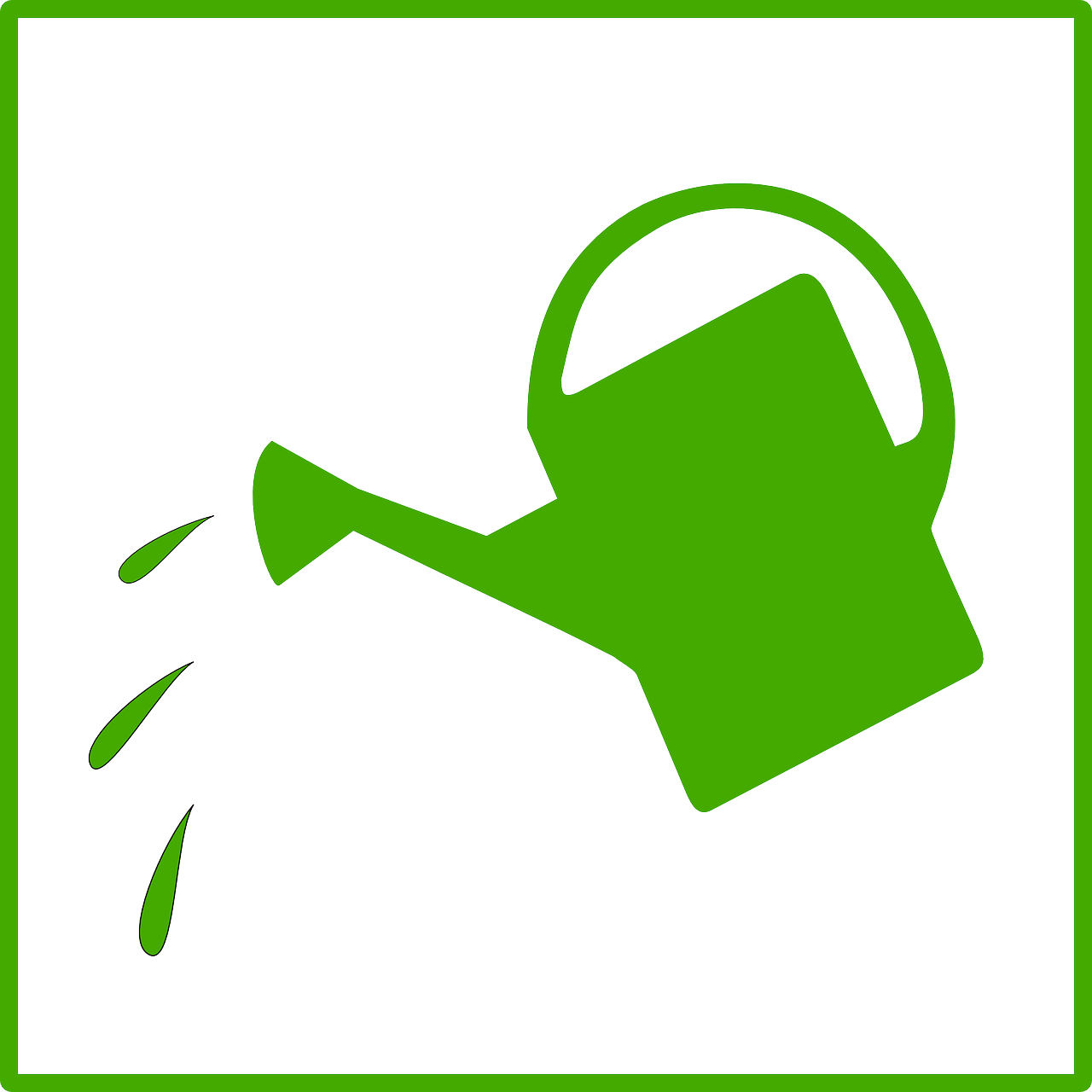 1280x1280 Watering Can Pouring Water Clip Art Clipartfest