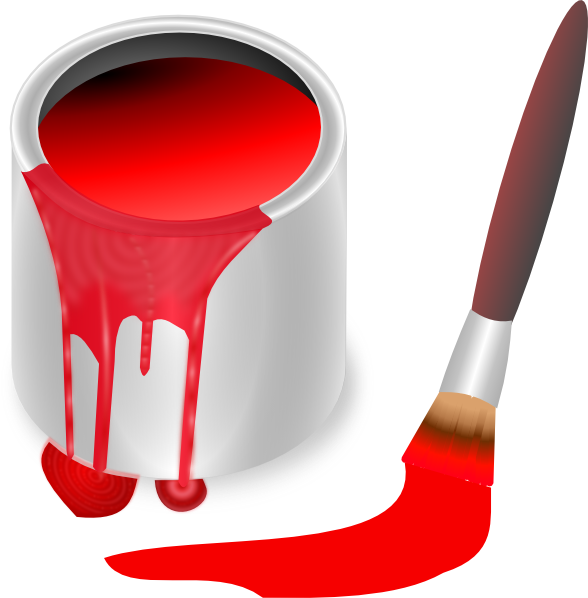 588x598 Collection Of Red Paint Can Clipart High Quality, Free