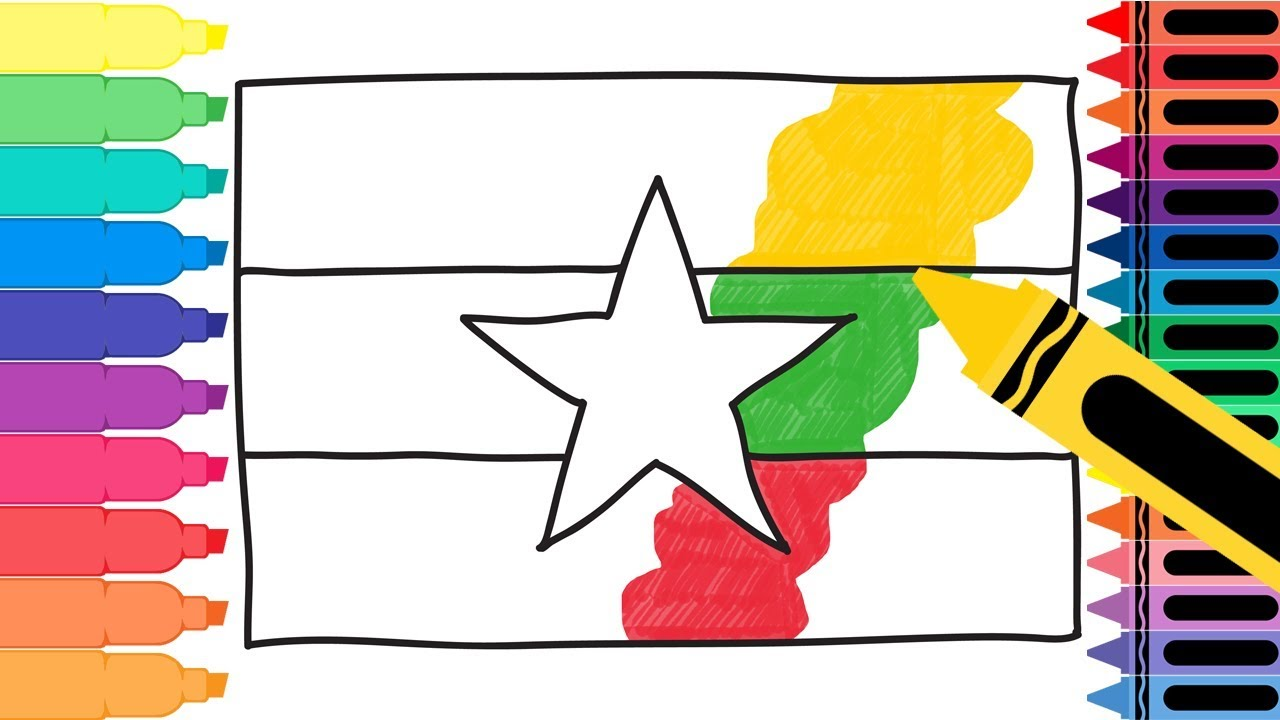 1280x720 How To Draw Myanmar Flag