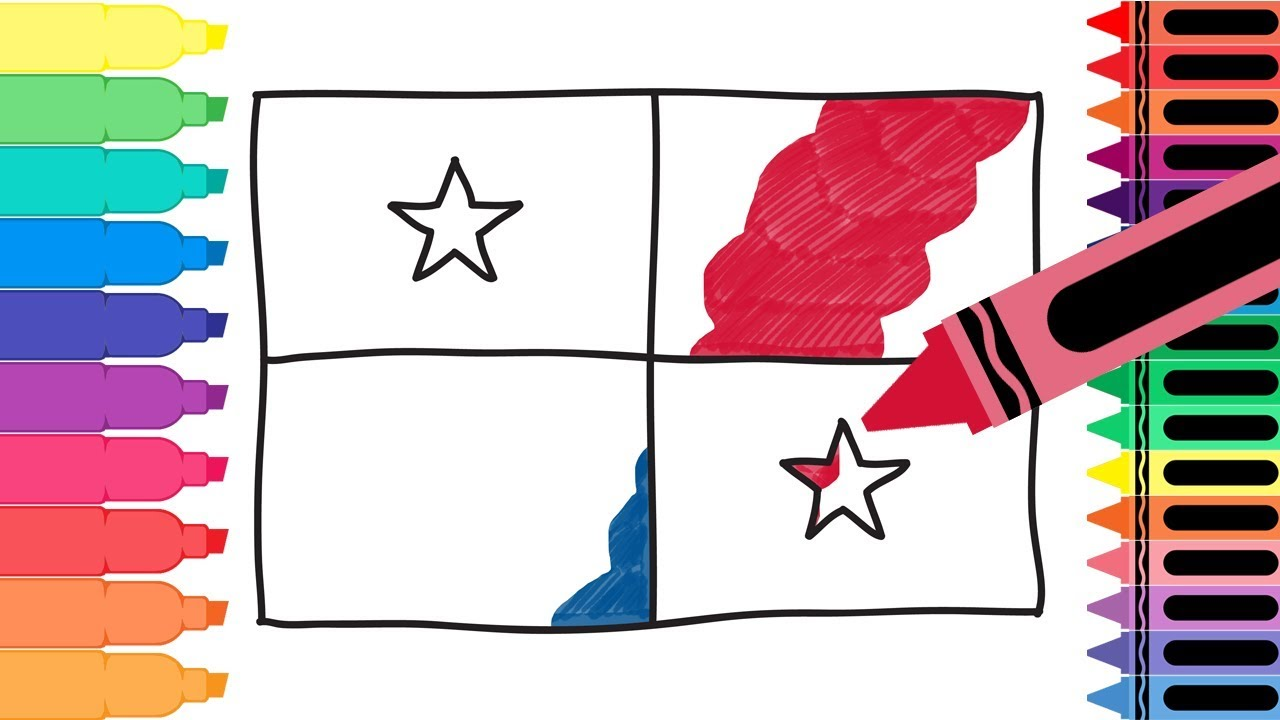1280x720 How To Draw Panama Flag