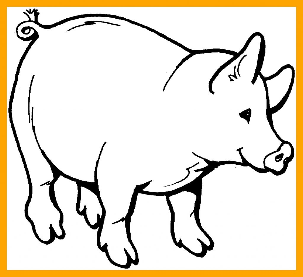 1024x937 Pig Coloring Book Valid New Cartoon Pig Coloring Pages Gallery