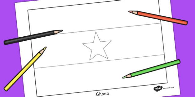 630x315 Ghana Flag Colouring Sheet
