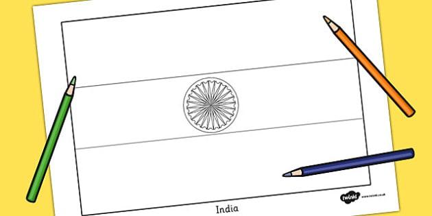 630x315 India Flag Colouring Sheet