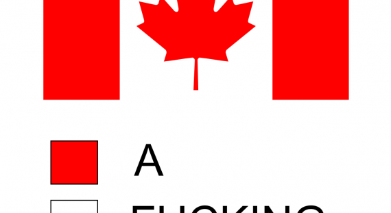 570x310 Strong Canada Flag Outline