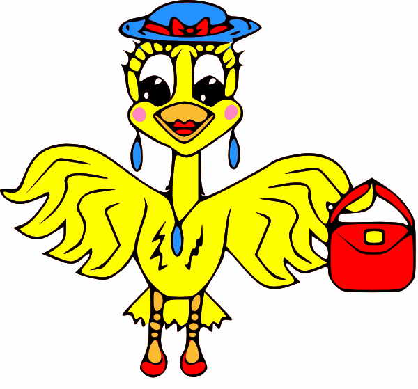 600x559 Canary Bird Clip Art