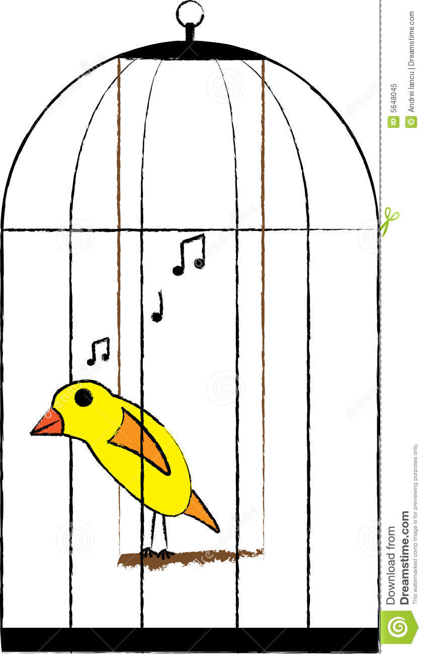 845x1300 Canary Clipart Caged Bird