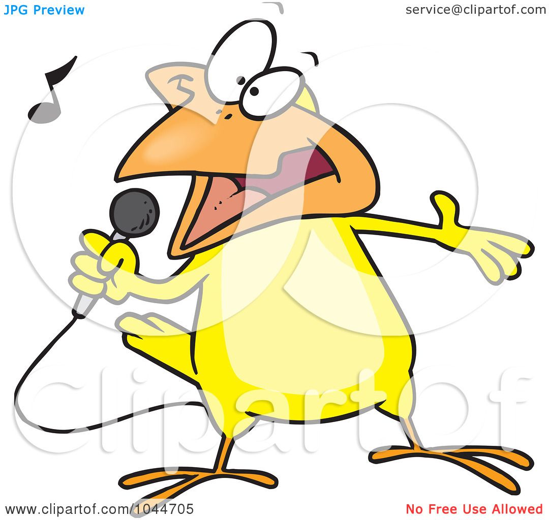1080x1024 Royalty Free (Rf) Clip Art Illustration Of A Cartoon Singing