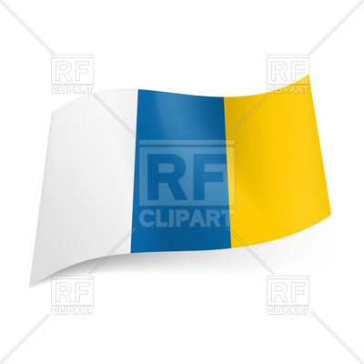 400x400 Wavy Flag Of Canary Islands Royalty Free Vector Clip Art Image
