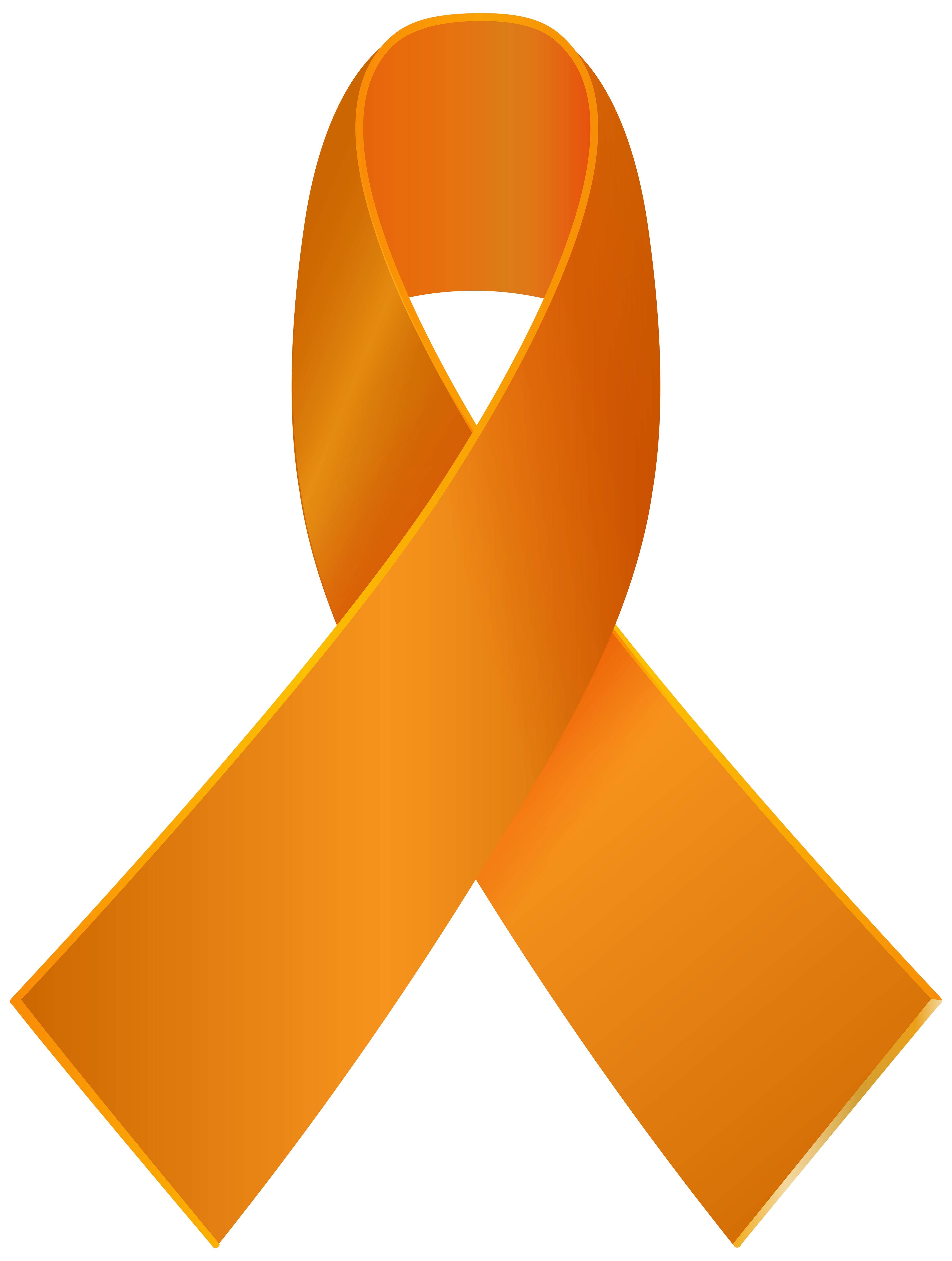 4531x6000 Orange Awareness Ribbon Png Clip Art