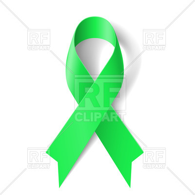 400x400 Ribbon Clipart Vector Kidney Cancer Awareness Green Ribbon Royalty