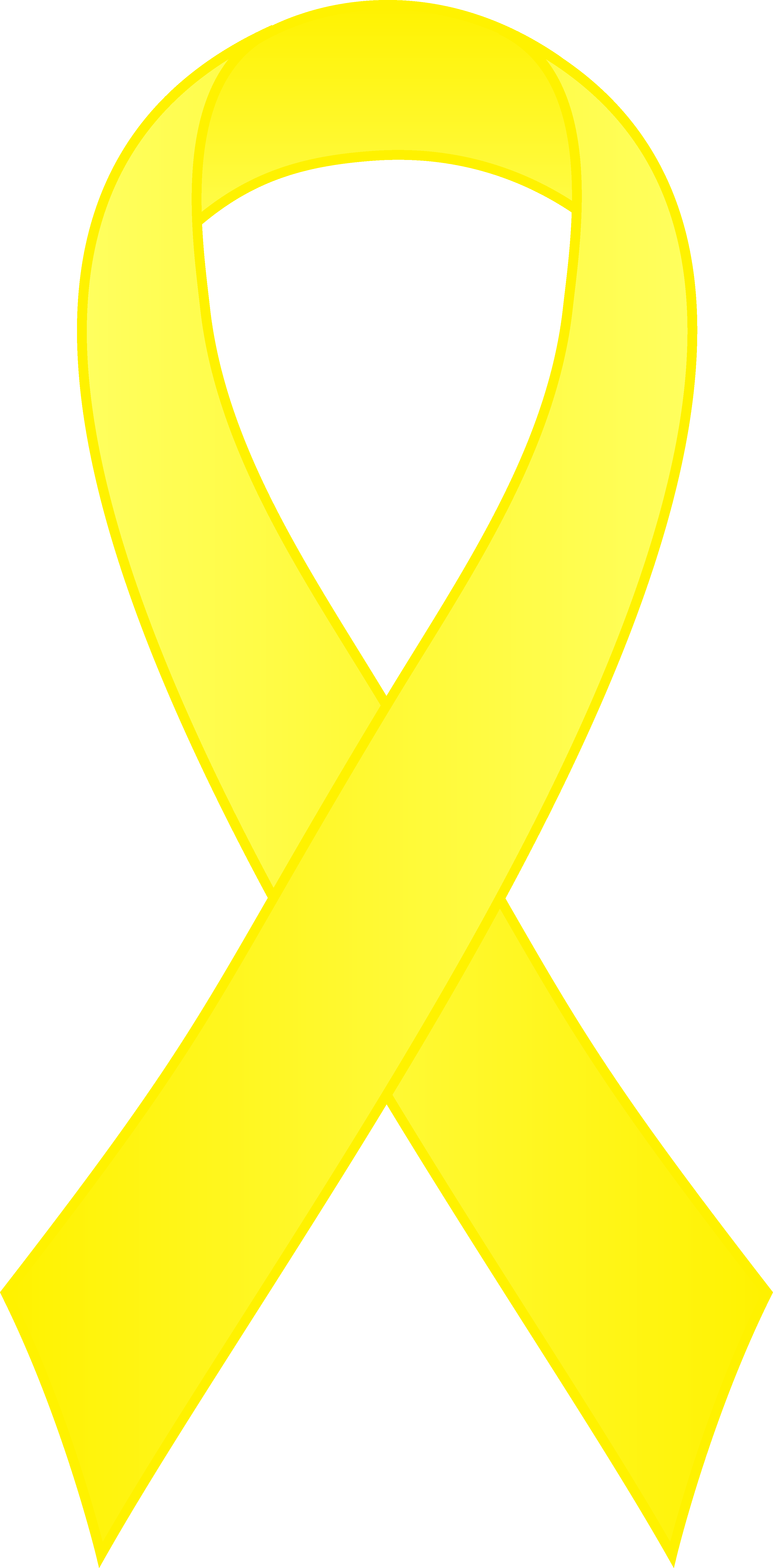 3312x6714 Yellow Awareness Ribbon Clipart