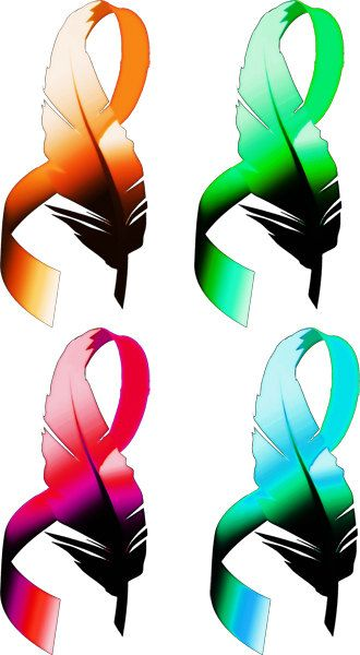 330x600 Feather Cancer Ribbons Clipart Png Clip Art By Digitalgraphicsshop