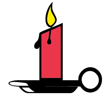 361x320 Candle Memorial Service Clipart