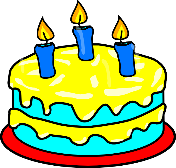 600x572 Clip Art Cake Candles Birtday Candle At Clker Com Vector Online