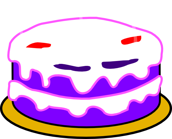 600x483 Clipart Cake With No Candles Pink Icing Clip Art At Clker Com