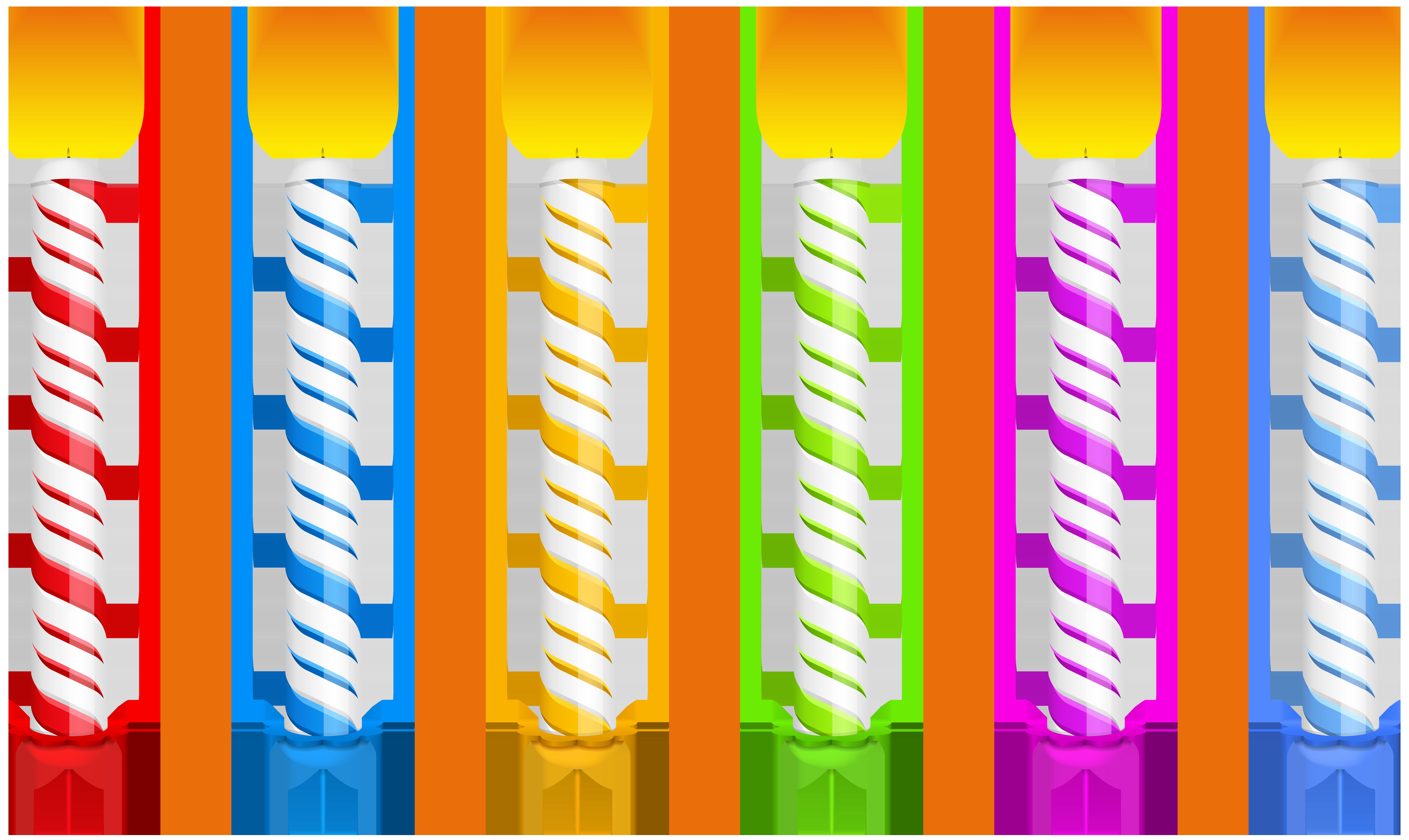 8000x4772 Birthday Candles Transparent Png Clip Art Imageu200b Gallery