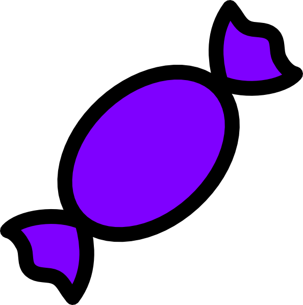 594x598 Purple Candy Clip Art