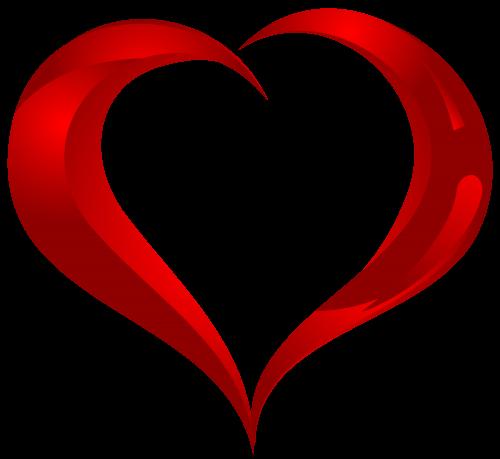 500x459 Beautiful Heart Png Clipart Serca Clip Art