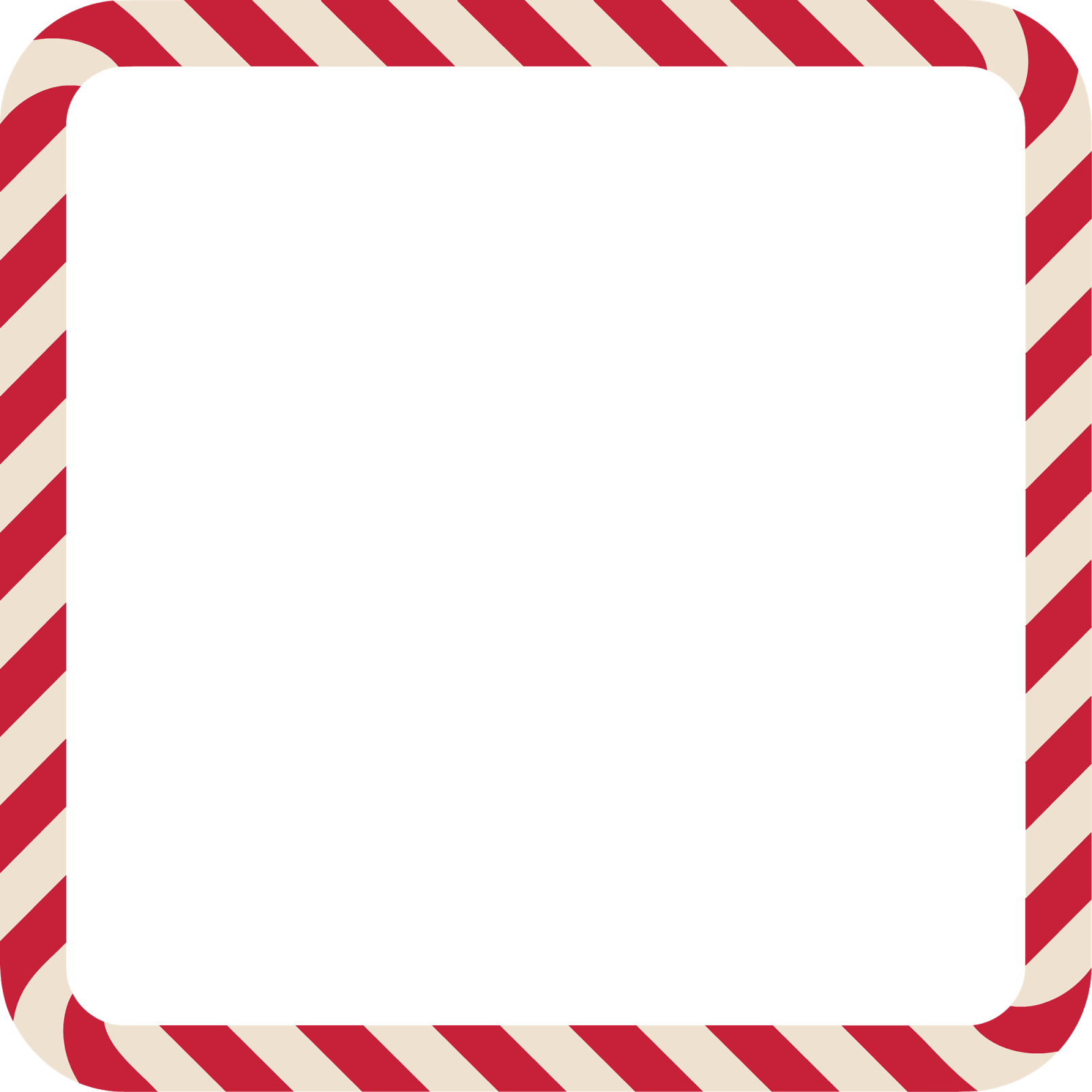 1600x1600 Christmas Candy Cane Border Clipart