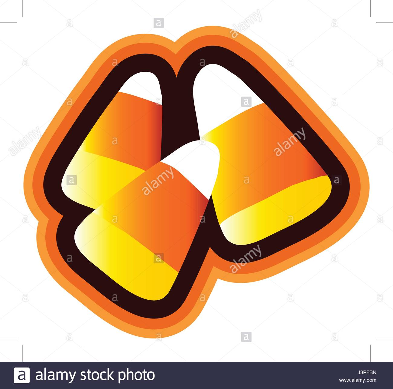 1300x1285 Candy Corn Isolated Candy Corn Clipart Isolated With Orange Shaded
