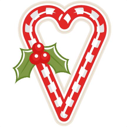 432x432 Candy Cane Heart Scrapbook Clip Art Christmas Cut Outs For Cricut