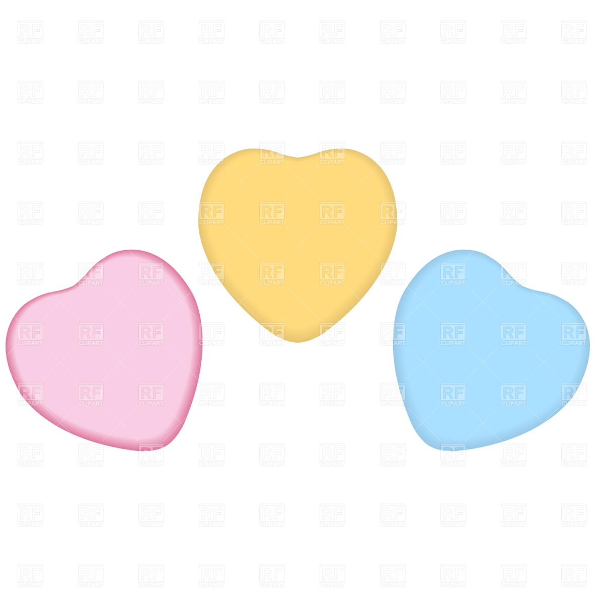 1200x1200 Candy Heart Royalty Free Vector Clip Art Image